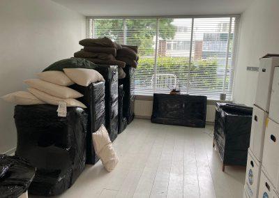 Inboedel ingepakt voor verhuizen