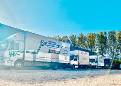 Verhuiswagens van Let's Move Verhuizingen